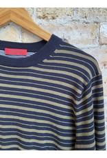 Scotch & Soda Green Striped Crewneck Pullover