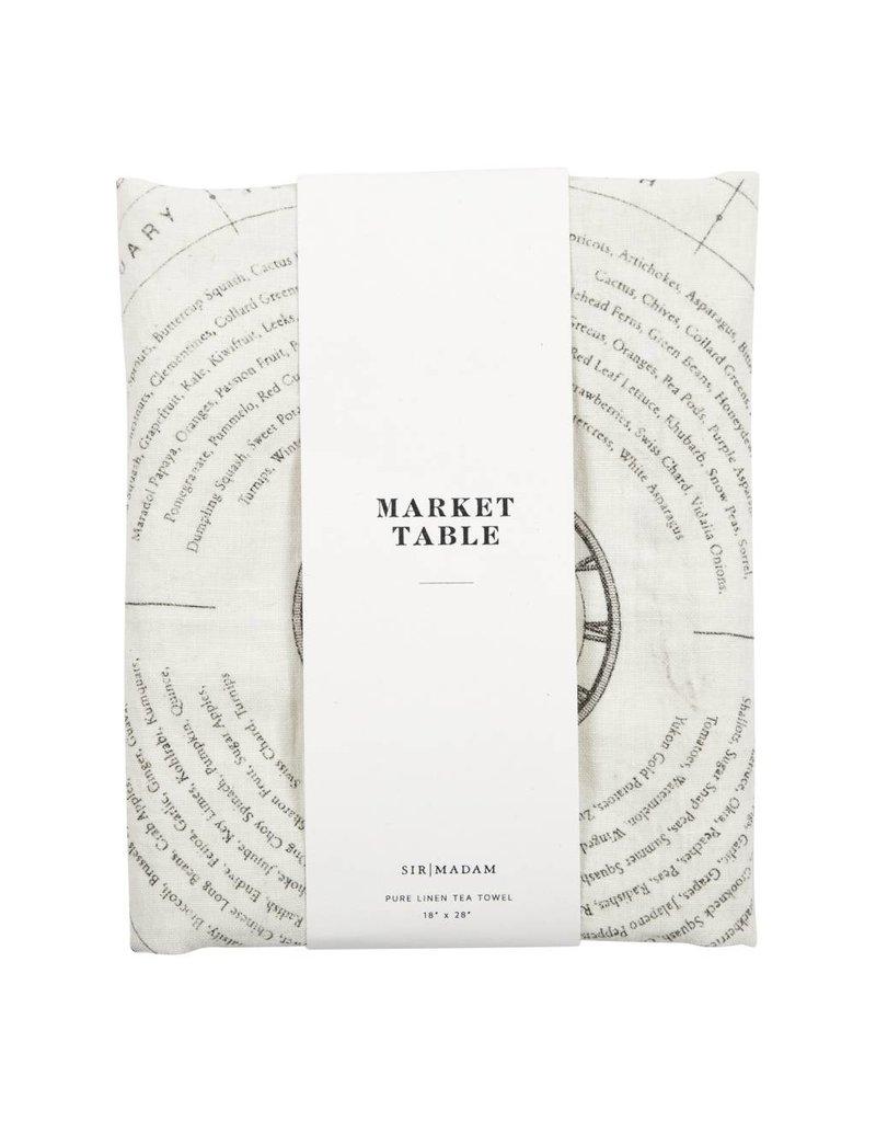 Market Table Tea Towel