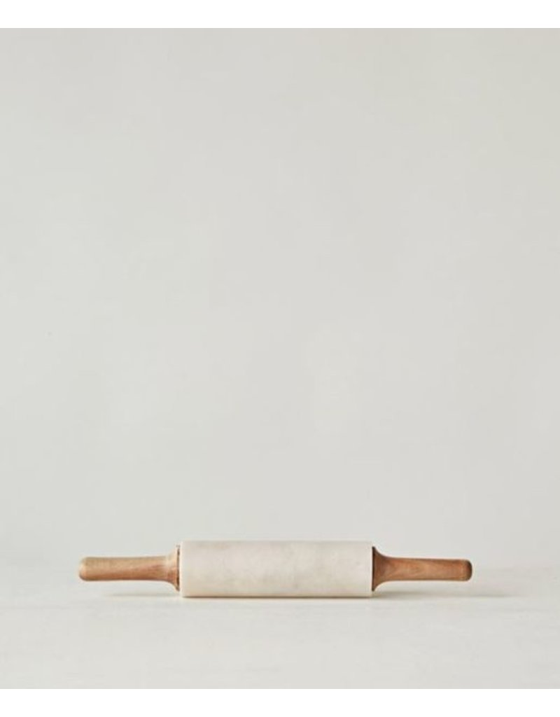 """Marble Rolling Pin (14 """" with wooden handles)"""