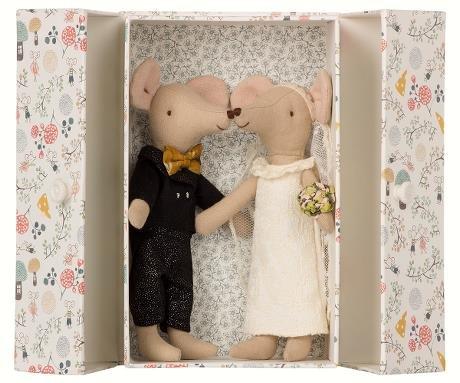 Maileg Wedding Mice Couple in Box