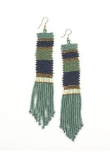 Ink + Alloy Gold, Mint, Teal Long Seed Bead