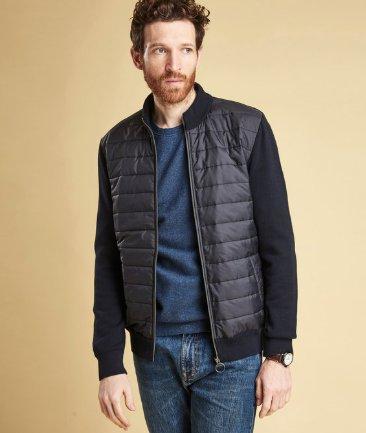 Barbour Carn Baffle Zip Up Knit Jacket