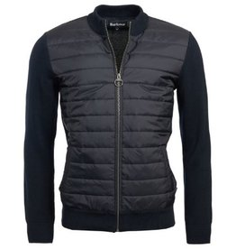 Barbour Yarn Baffle Zip Up Knit Jacket