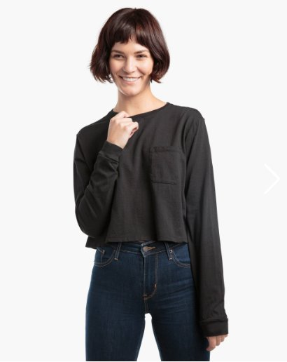 Richer Poorer Long Sleeve Boxy Crop Tee