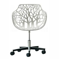 HKLiving Desk chair white design