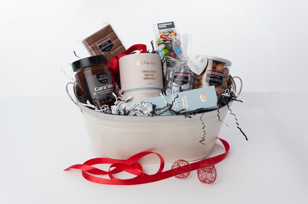 Chocolate Caramel Basket
