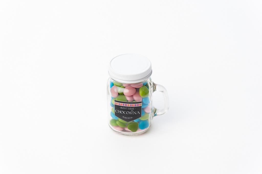 Heart Milk Choc Dragés Jar 140g