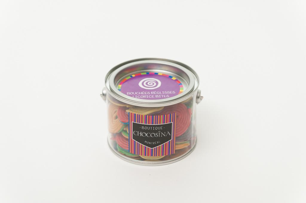 Chocosina Mini-conserve Roulettes réglisse