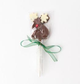 Xmas Reindeer Milk Choco Lolly