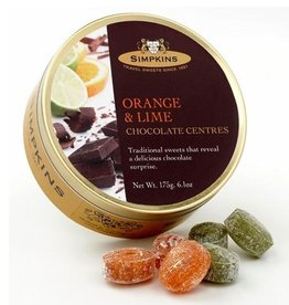 Candy Tins - Chocolate Center Orange & Lime