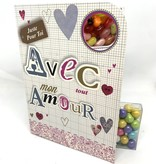 Sweeting Cards Francais - Avec Amour REWLF1F