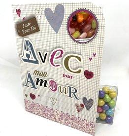 Sweeting Cards Francais - Avec Amour REWLF1F