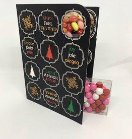 Sweeting Cards - English Xmas & New Year Xmas, Peace, Love, Joy (SRXMU13)