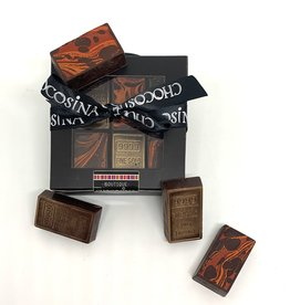 Mini lingot d'or chocolat noir artisanal 12pcs