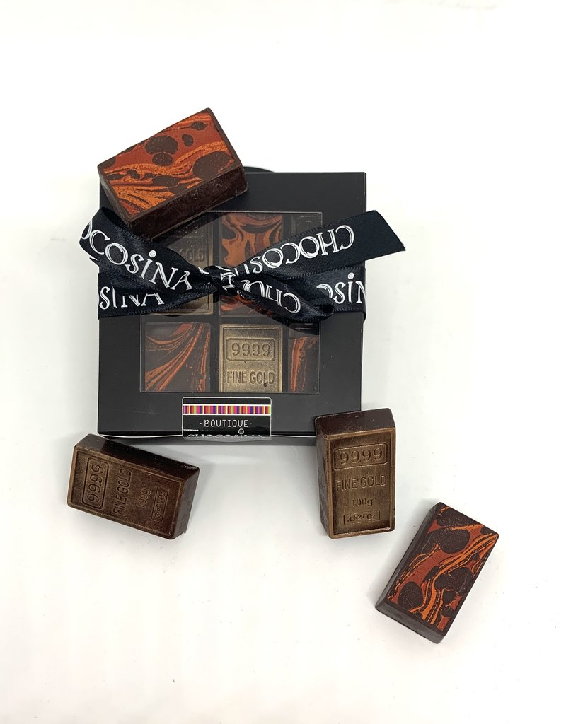 Dark Chocolate Artisanal Gold Bars 6pcs