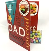 Sweeting Cards - English Mother & Father Days #1 Dad Totally Amazing (SRFAT4)