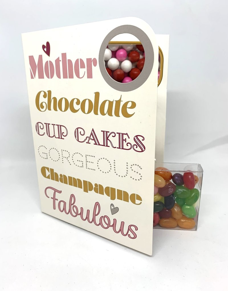 Sweeting Cards - English Mother & Father Days Mother Chocolate Cupcakes (SRMTH5)