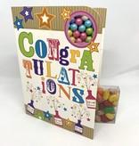 Sweeting Cards - English Neon Kraft  Congrats (NKBLU1)