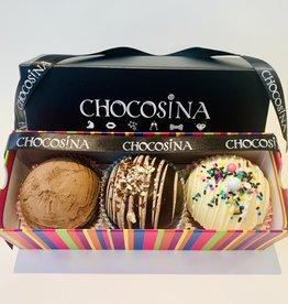 Boîte-cadeau Choco-Bombes 3pcs