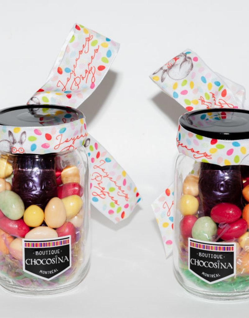 Easter Praline Dark Bunny Jar & Eggs - 450g