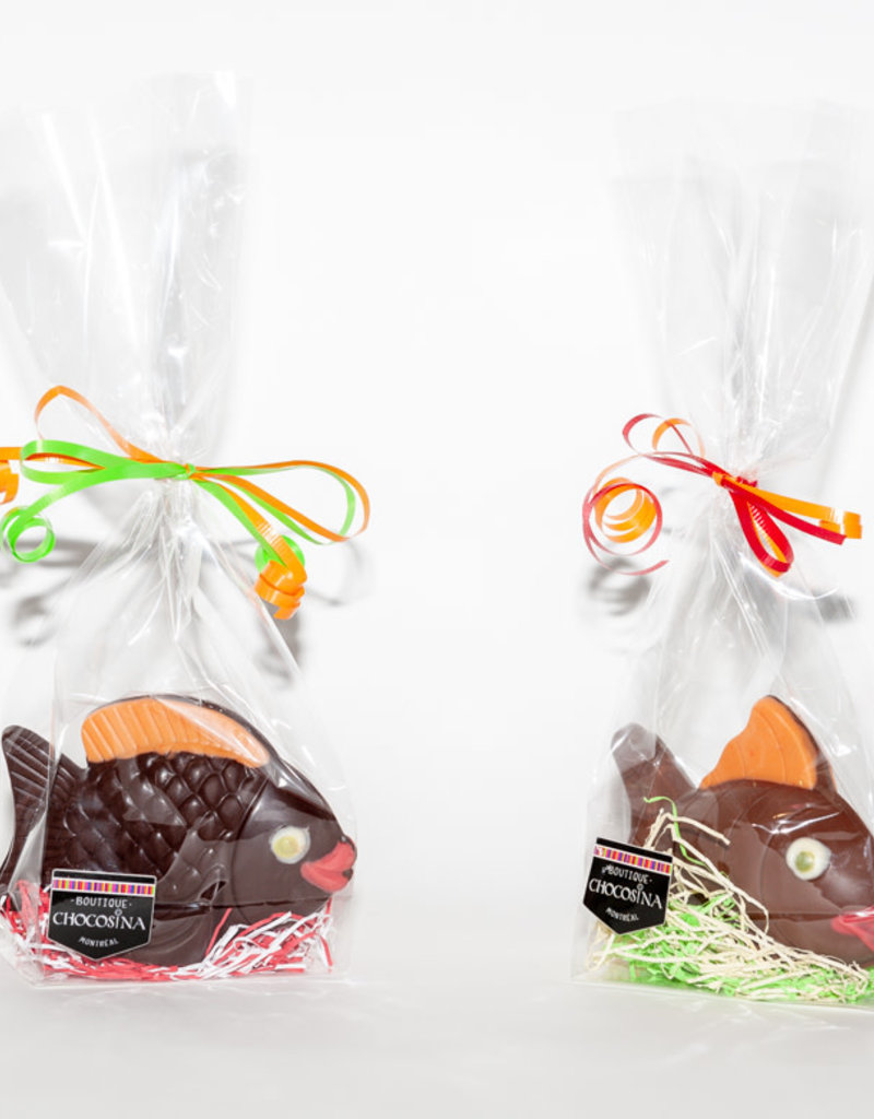 Striped Filled Easter Fish Dark Chcolate 120g