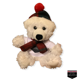 """Peluche Ours Polaire Tuque  7.5"""""""
