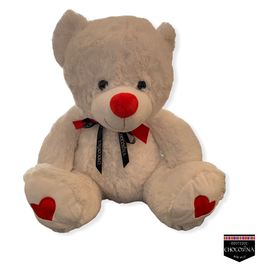 "Plush Heart Paw Bear 20"""