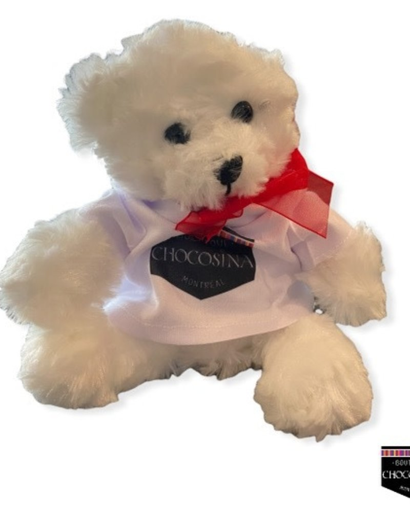 Plush White Hug Bear 7.5''