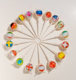 World Flags 2D Lollipops