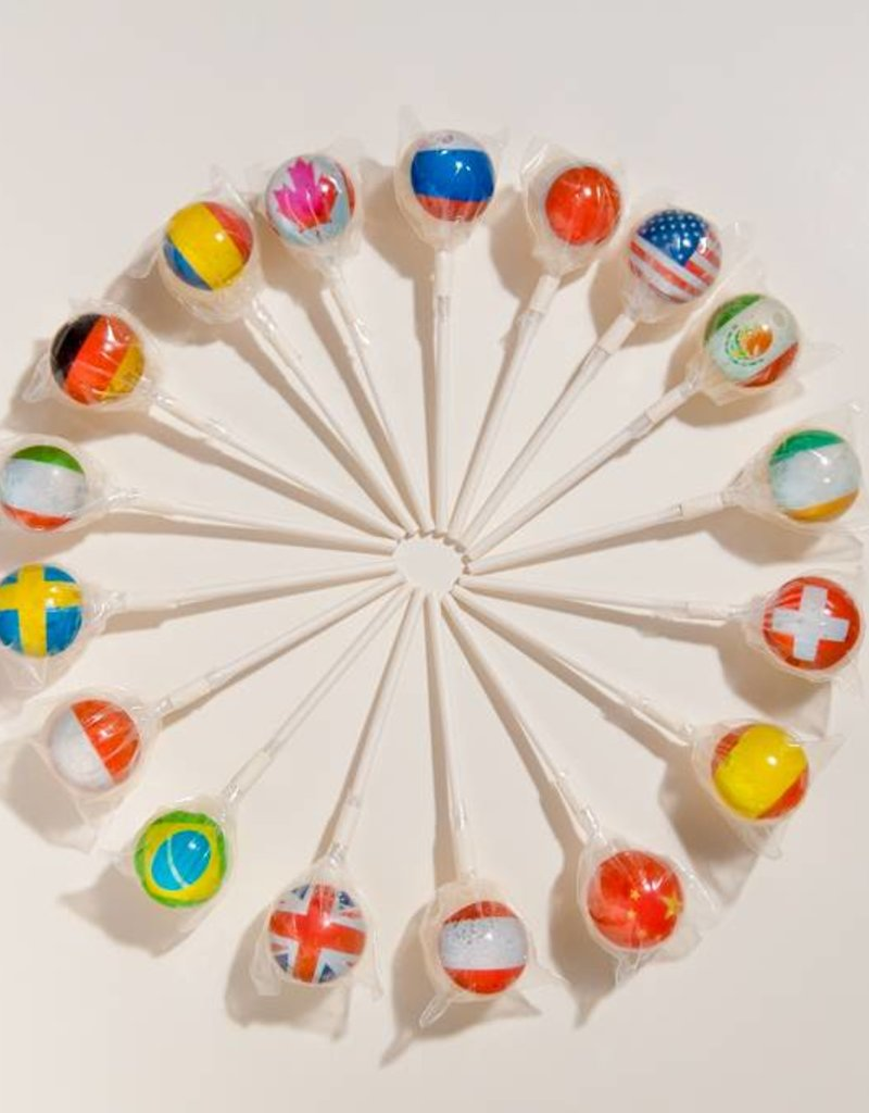 World Flags 2D Lollipops