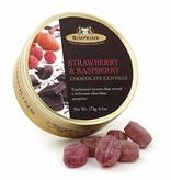 Strawberry & Raspberry Candy Tins - Chocolate Center