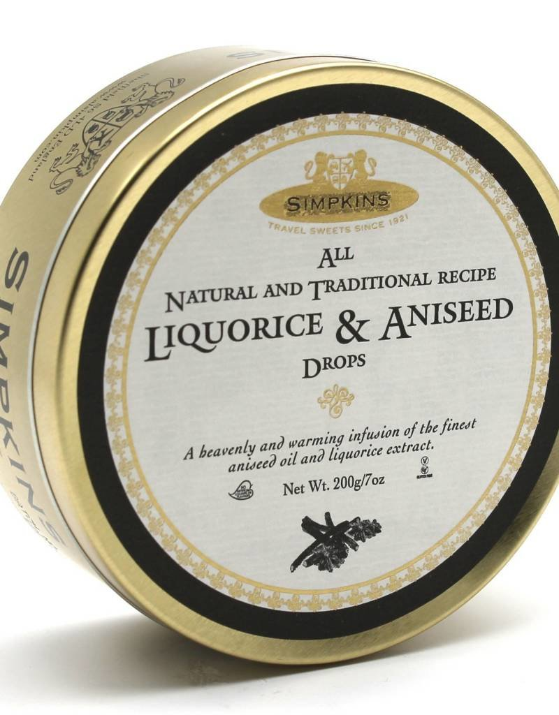 Simpkins Gold Label Candy Tins  - Liquorice & Aniseed