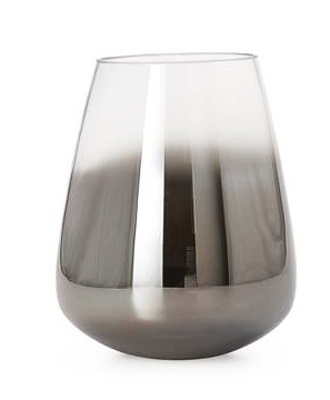 Torre & Tagus Smoke Mirror Cone Vase / Candle Holder