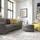 Pinnacle Cuddle ottoman Gr 40 Leather: Your Choice