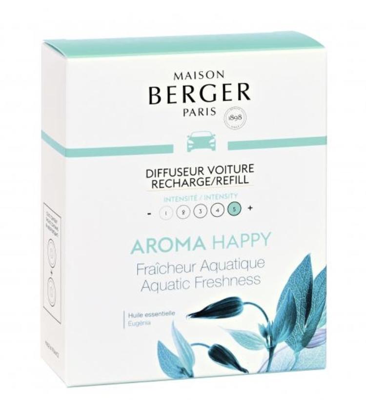 Lampeberger Lampe Berger Paris Happy (Aquatic Freshness) car diffuser - Refill only
