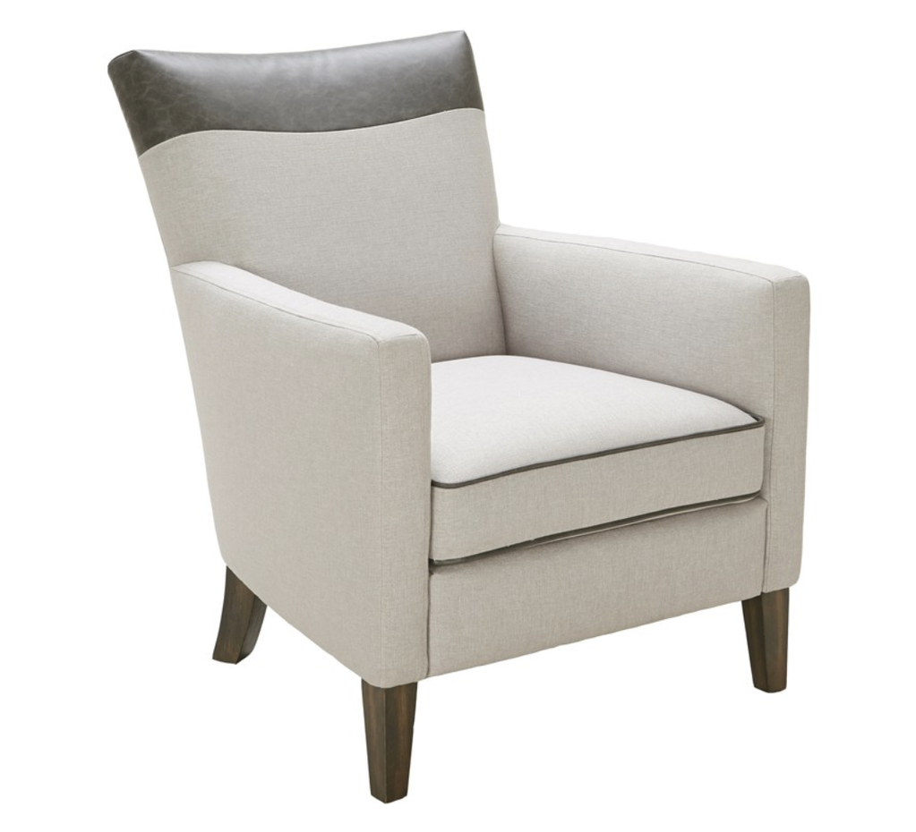 SunPan Aston Armchair - Silver Linen Fabric