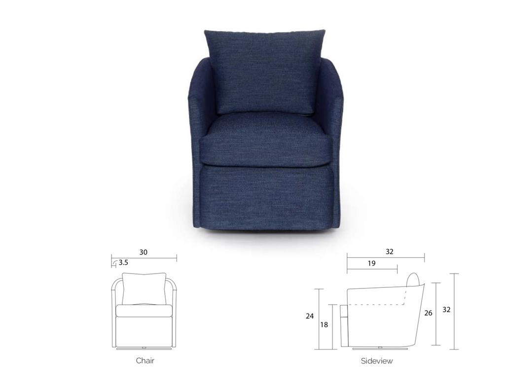 Birchwood 845 Joffre Swivel Chair - Gr. C