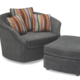 Stylus Whirl Swivel Chair in Gr. 15 Fabric.  Your Choice of fabric