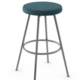 Amisco Hans Swivel Stool with upholstered seat