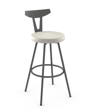 Amisco Hans Swivel Stool with upholstered seat and back rest