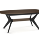 Amisco Boomerang table base with wood accent. Top sold separetly