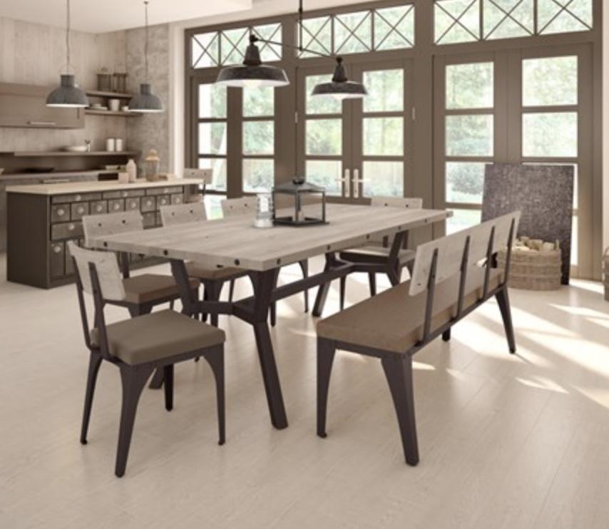 """Amisco Architect Bench - Upholstered 60"""""""