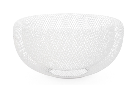 Torre & Tagus Mesh Double Wall Bowl - Large White