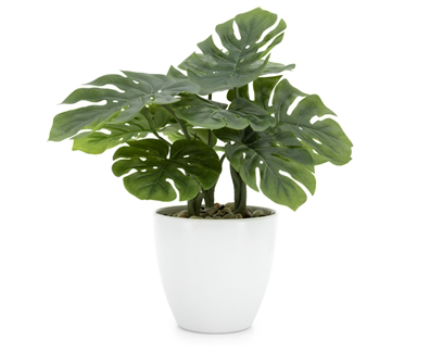 "Torre & Tagus Villa 5.5"" Diameter Faux Potted 12"" Plant - Monstera"
