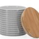 "Torre & Tagus Kiri Porcelain 4d x 3.5""h Canister - Black Screen"