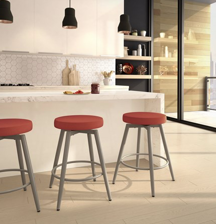 Amisco NOX swivel counter stool - Upholstered Seat