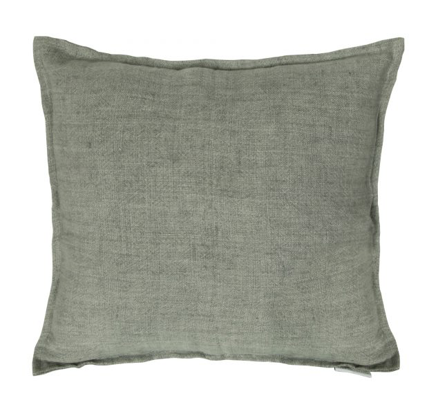"Moe's Home Collection Lemmy Linen Feather Cushion Grey 20"" x 20"""