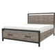 LH Imports Irondale Queen Storage Bed