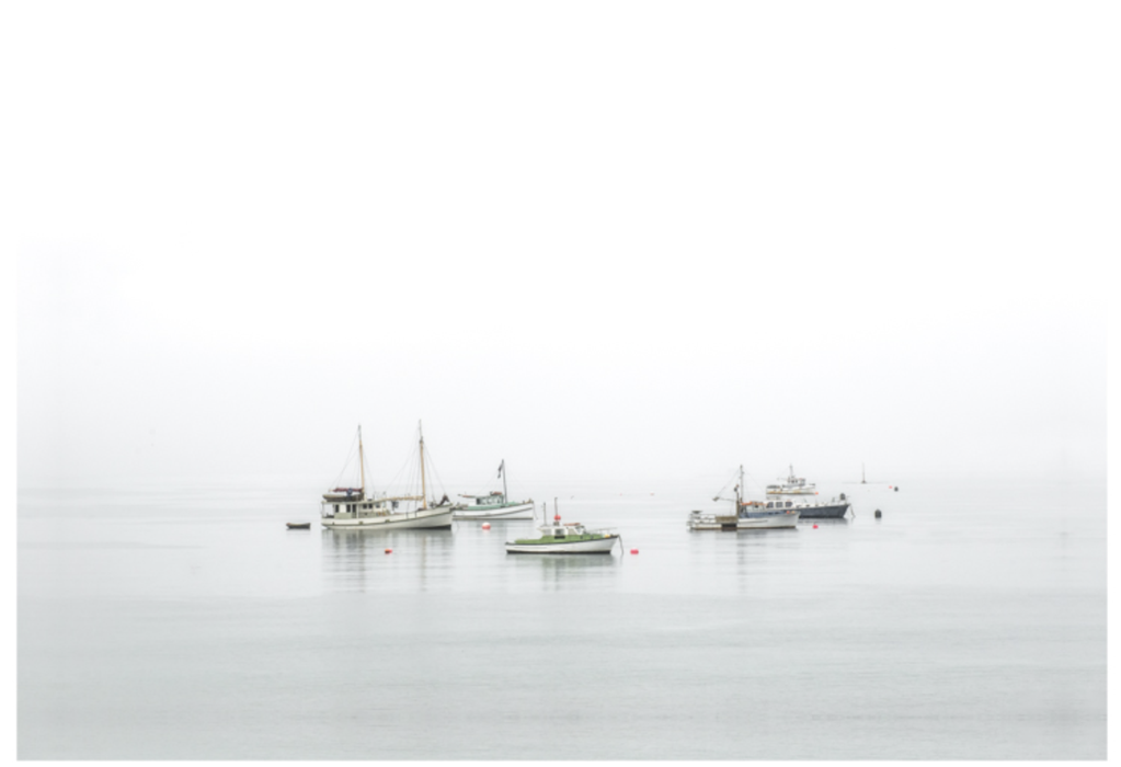 Rob Stenner Fishing Boats in the Mist