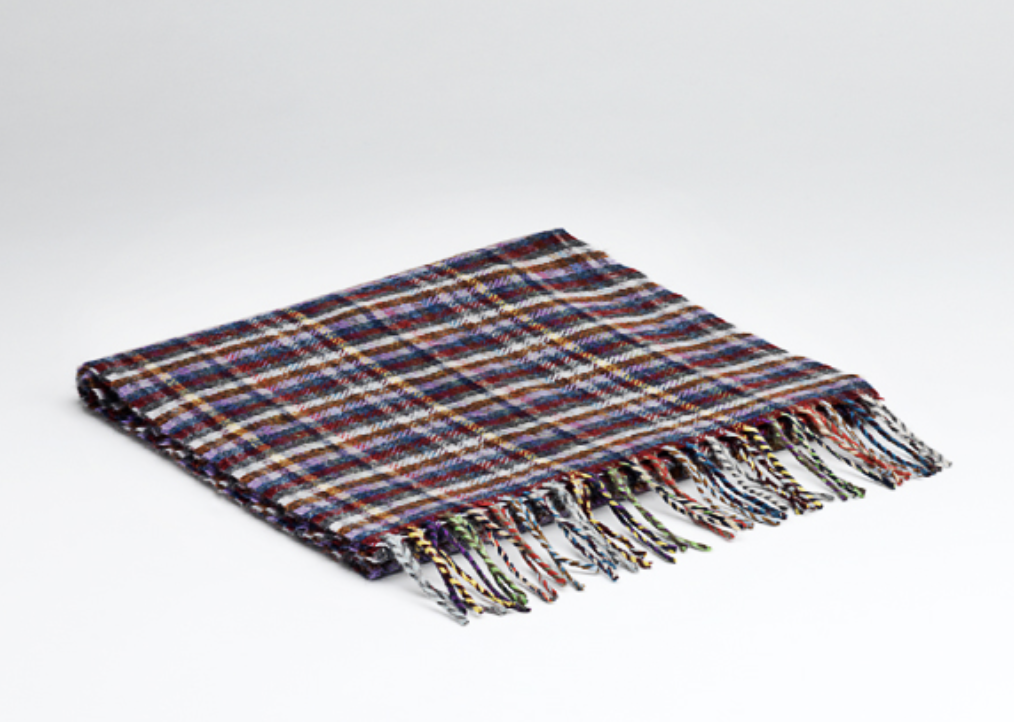 McNutt of Donegal Lilac Mini Check Scarf